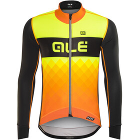Alé Cycling R-EV1 Rumbles Jacket Men Black-Foul Organge-Fluo Yellow